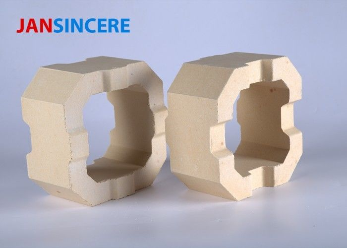 Low Creep Reheating Furnace Zirconia Bricks Heat Proof Dense Crystal Structure